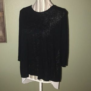 Anthropologie Tops - W5 Anthropologie sweater top, sheer off white back